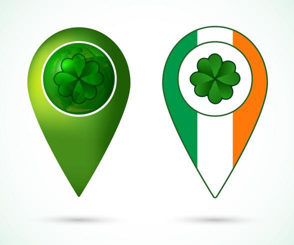 Marca de localização da Irlanda vetor