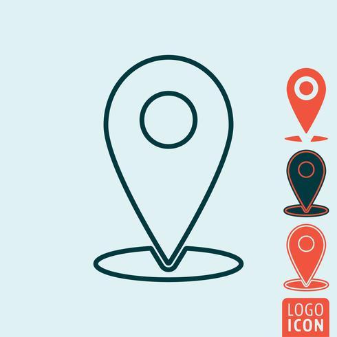 Ícone de localização de marcador isolado vetor