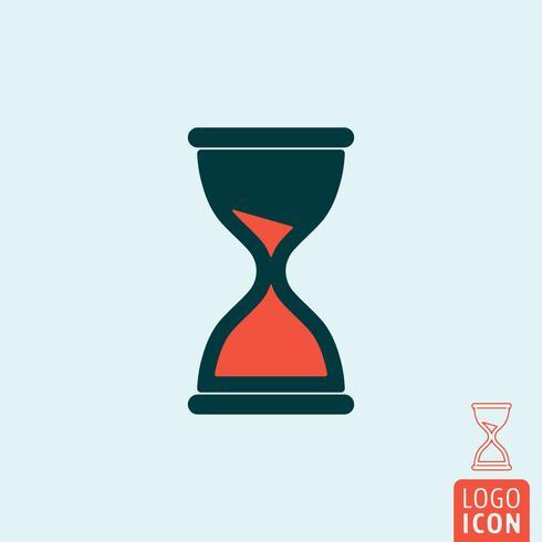 Ícone de relógio de areia isolado vetor