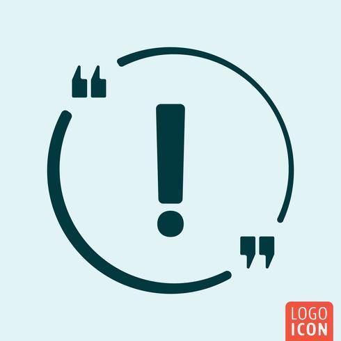 Design de ícone de exclamação vetor