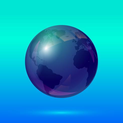 Globo terra ícone vetor