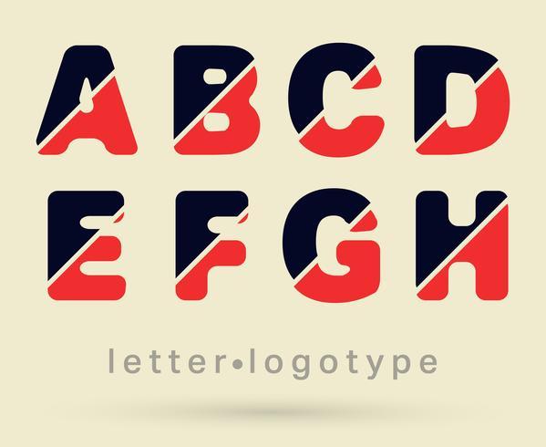 Fonte do logotipo letra vetor