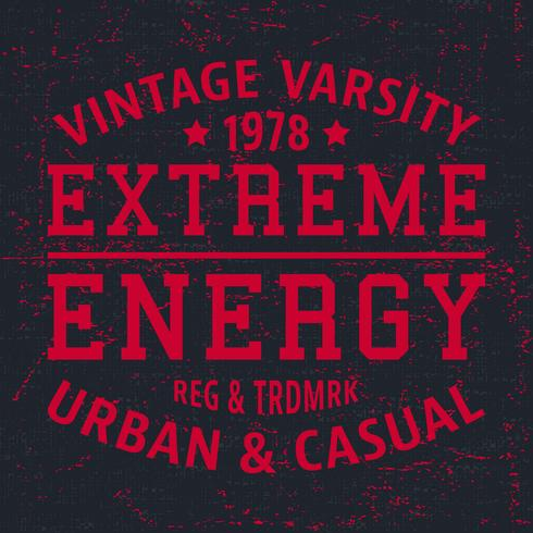 Selo vintage de extrema energia vetor