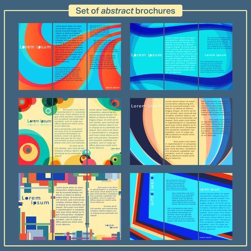 Conjunto de modelo de folhetos vetor