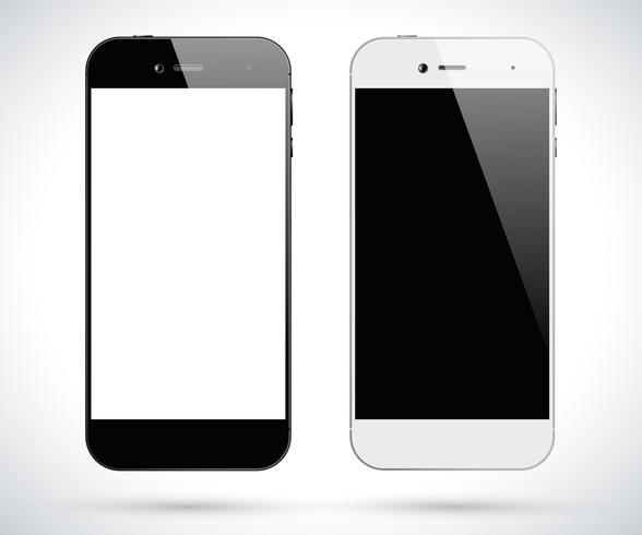 Smartphones brancos pretos vetor