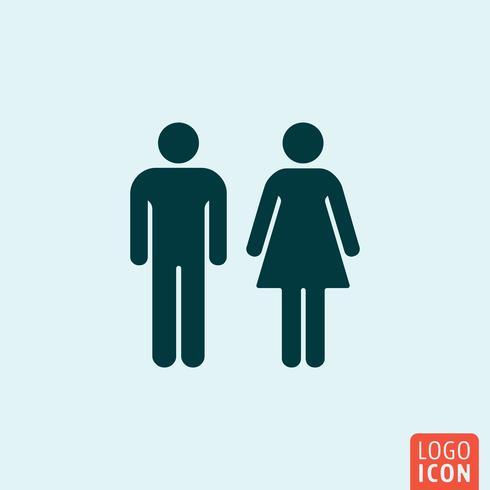 Homem mulher, ícone vetor
