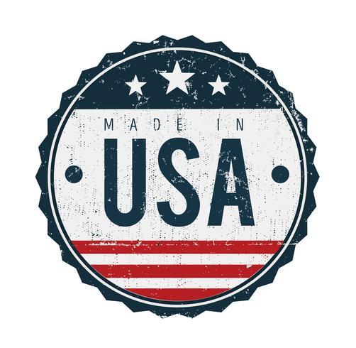 Feito no selo do emblema dos EUA vetor