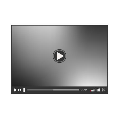 Interface do player de vídeo vetor