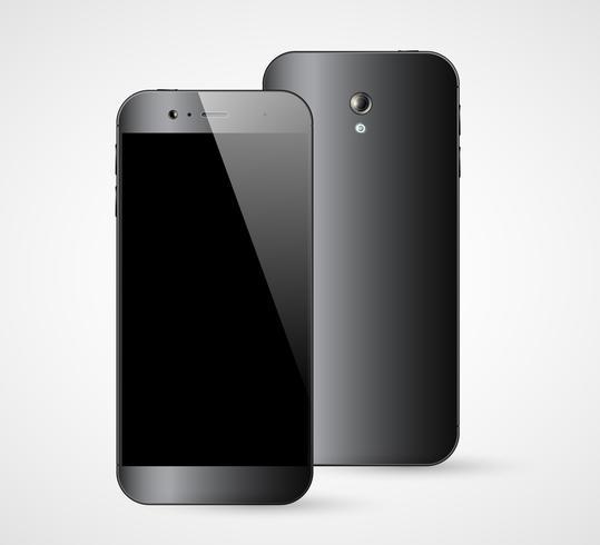 Vista traseira da parte dianteira do smartphone vetor