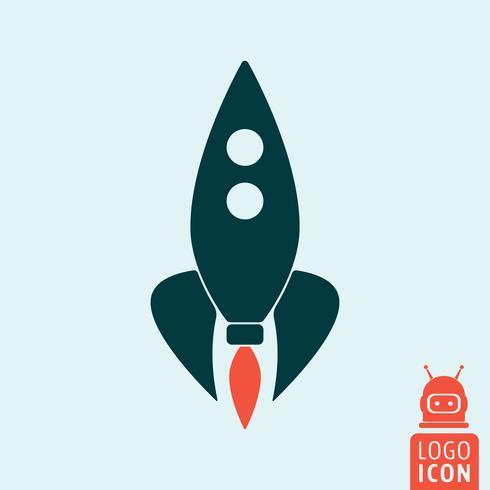 Ícone de astronauta de foguete vetor