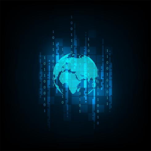 O mundo no conceito de digital. vetor