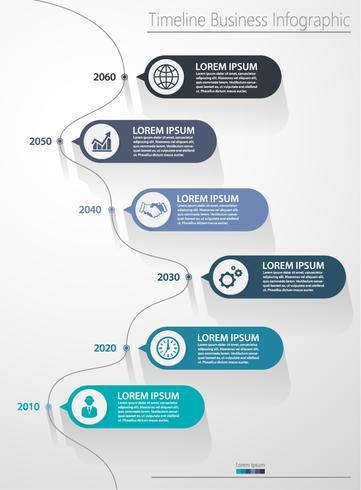 Modelo de infográfico de negócios de apresentação vetor