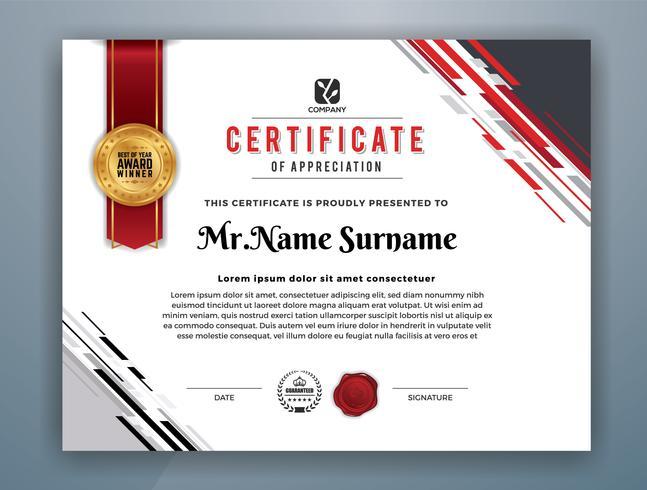 Modelo de certificado profissional moderno multiuso vetor