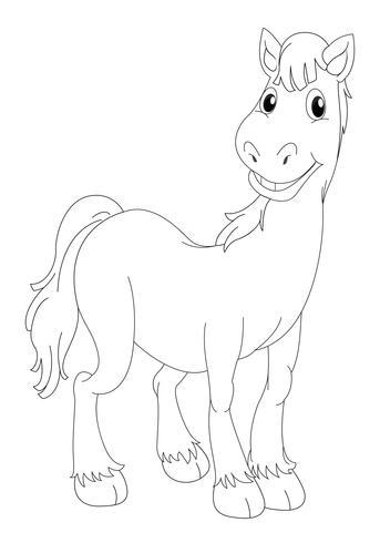 Doodle animal para cavalo vetor