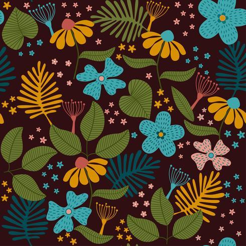 Deixa o padrão de textura. planta e folha de fundo vetor