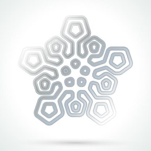 Ícone de floco de neve de prata vetor