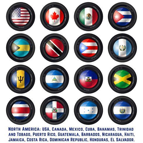 Bandeiras da américa do norte vetor