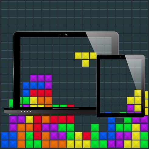 modelo de tablet laptop vetor