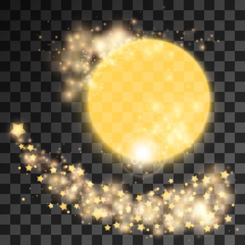 Pó de estrelas douradas vetor