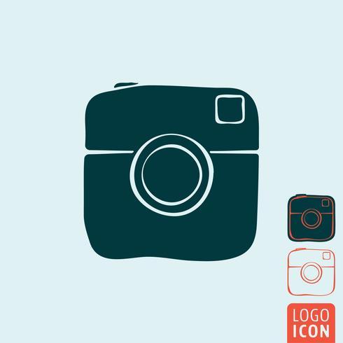 Ícone de câmera de foto isolada vetor