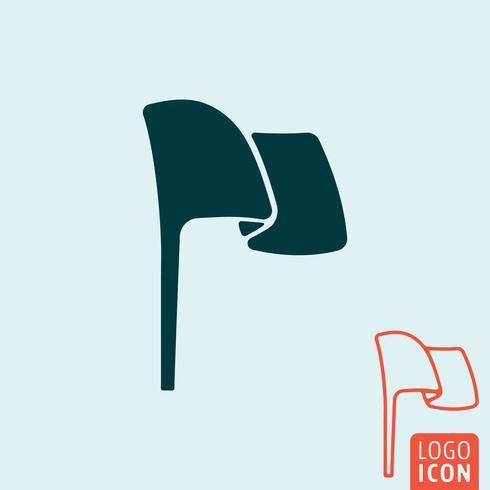 Ícone de bandeira isolado vetor
