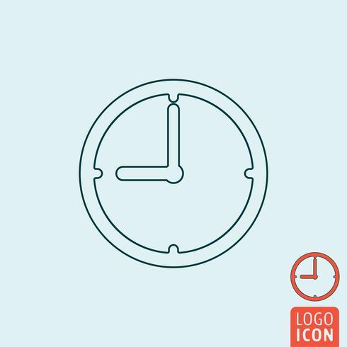 Relógio, ícone, isolado vetor