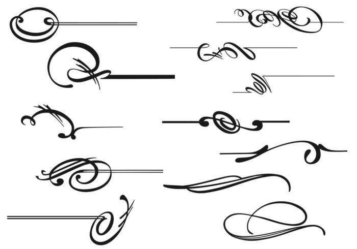Pacote de vetores de caligrafia