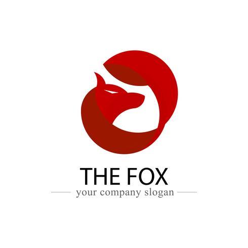 Ícone de vetor de design de logotipo de raposa. Animal e logotipo banner para empresa e conceito de organização. Gráfico de ilustração vetorial. Uso da proporção áurea