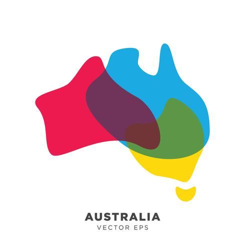 Criativo Austrália mapa Vector, vetor eps 10