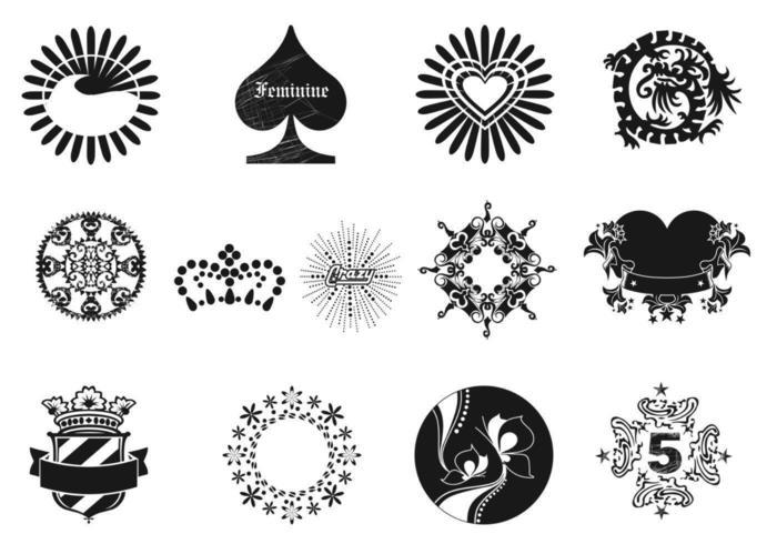 Pacote de elementos vetoriais de design feminino vetor