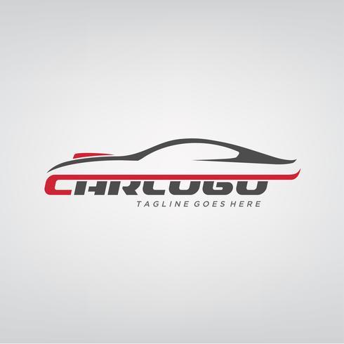 Design elegante logotipo do carro vetor