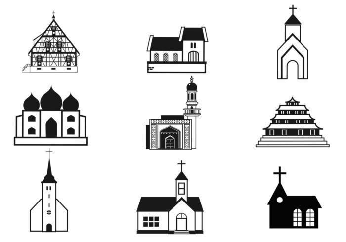 Pacote de vetores de igrejas