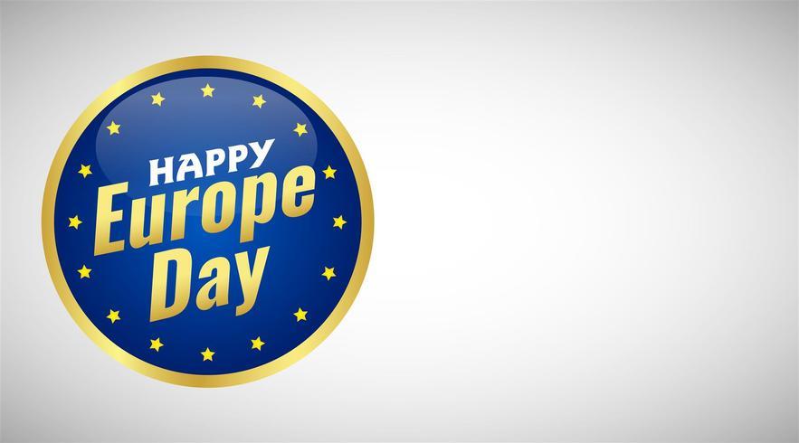 Dia da Europa. Feriado anual em maio. É o nome de dois dias de observância anual - 5 de maio pelo Conselho da Europa e 9 de maio pela União Europeia. Cartaz, cartão, banner e plano de fundo. Vetor - Vektör