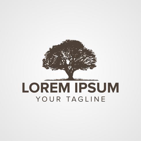 Design de conceito de logotipo de árvore criativa vetor