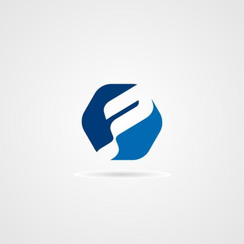 Design de conceito criativo moderno letra P logotipo vetor