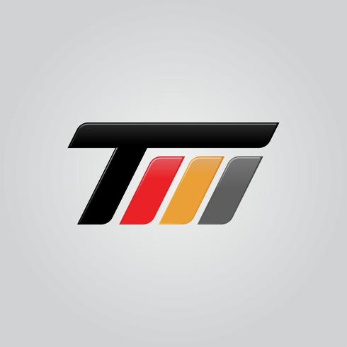 Design de conceito de logotipo criativo letra TM vetor