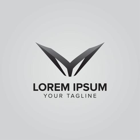Conceito de luxo criativo letra YM logotipo vetor