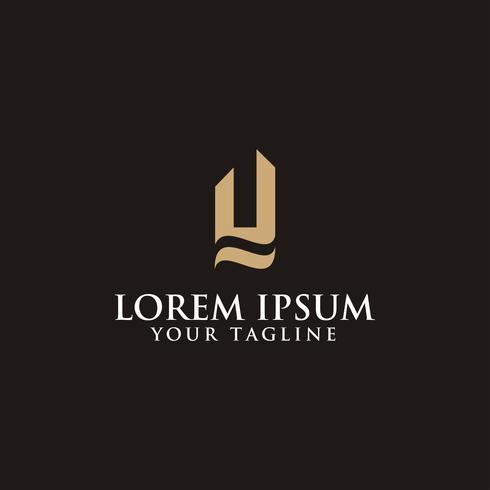 Design de conceito de luxo criativo letra Y logotipo vetor