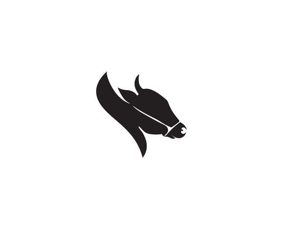 Vetor de modelo de logotipo de cabeça de vaca