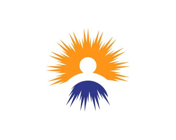 Logotipo do sol e símbolos ícone web estrela Vetor -