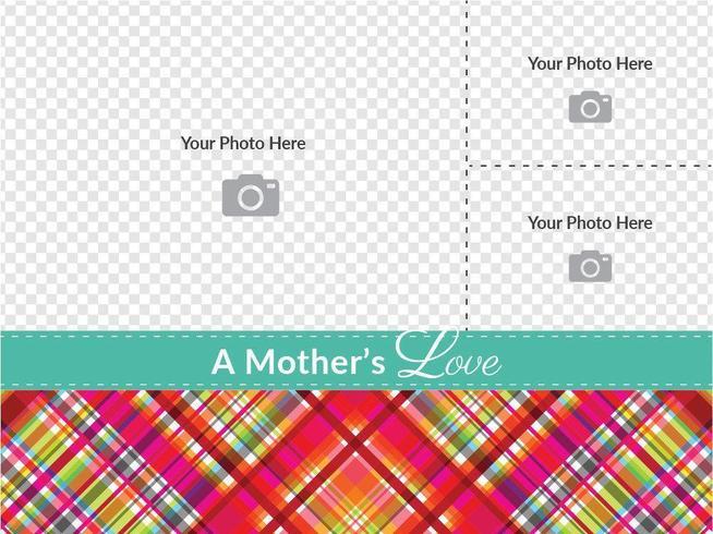 Modelo do vetor do cartão do dia das mães da xadrez