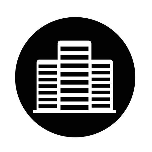 Ícone do edifício de escritórios vetor
