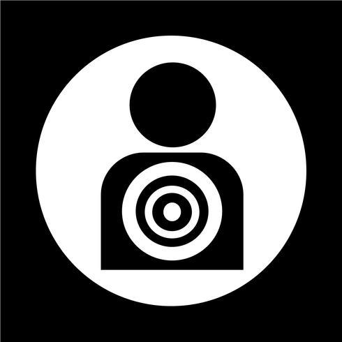 Ícone de pessoas-alvo vetor
