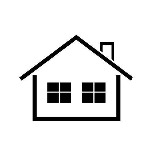 símbolo simples ícone em casa vetor