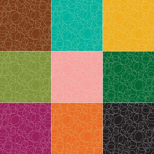 padrões de vetores de círculos de contorno