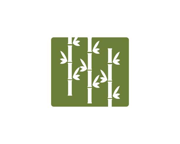 Ícone de vetor de logotipo de bambu