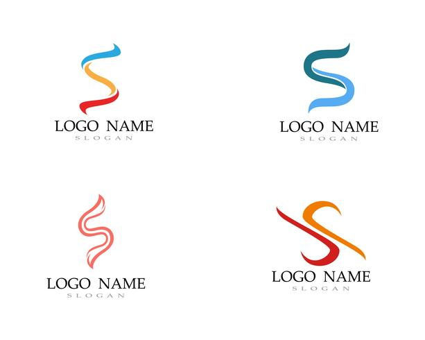 S fonte de modelo de vetor linha logotipo