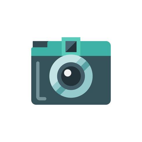 Mini câmera plana isolada icon ilustração vetorial vetor