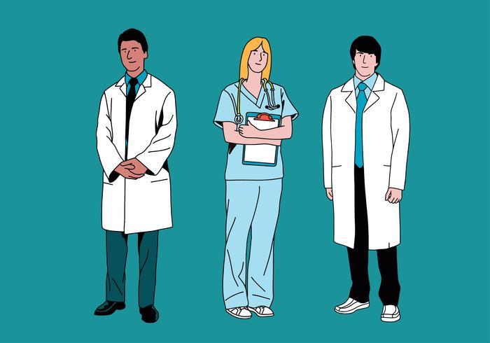 personagens de saúde vetor
