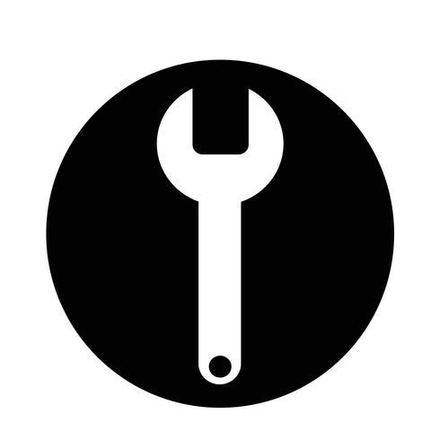 Ícone de chave inglesa vetor